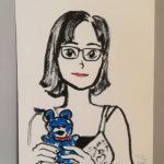 タムくんに似顔絵を描いてもらいました in バンコク