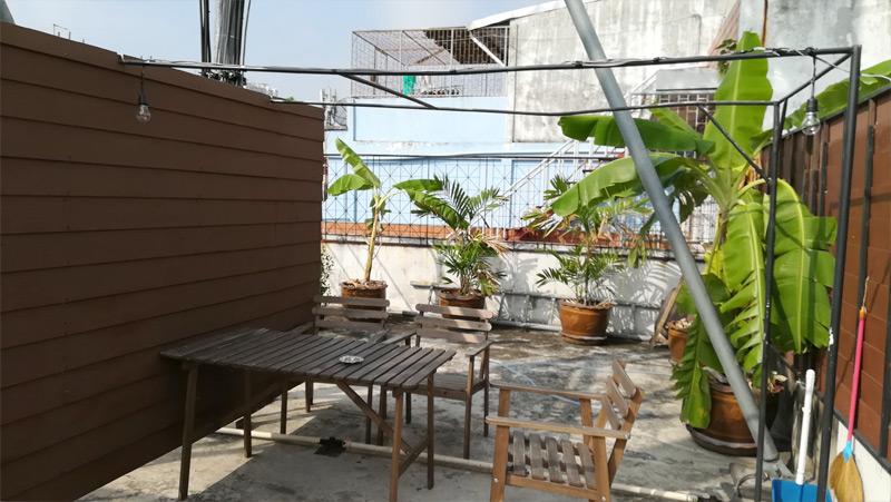 屋上のスペース