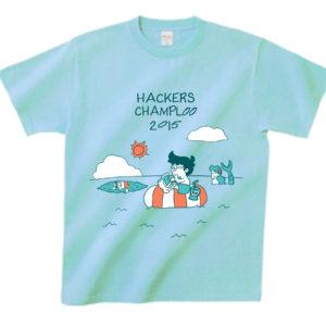 ハッカーズチャンプルーTシャツ