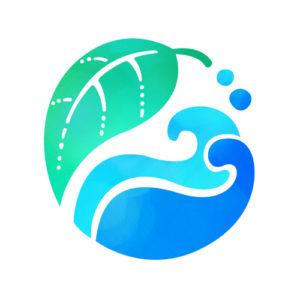 海と葉のロゴ