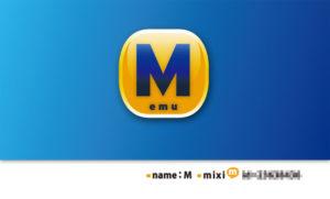 mixi IDとイニシャルのみのシンプルな名刺