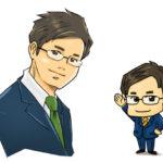 ビジネス用 漫画タッチ似顔絵とチビキャラ