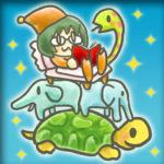 SNSアイコン用似顔絵 像と亀と蛇