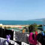 洗濯物干し場からの眺めは最高