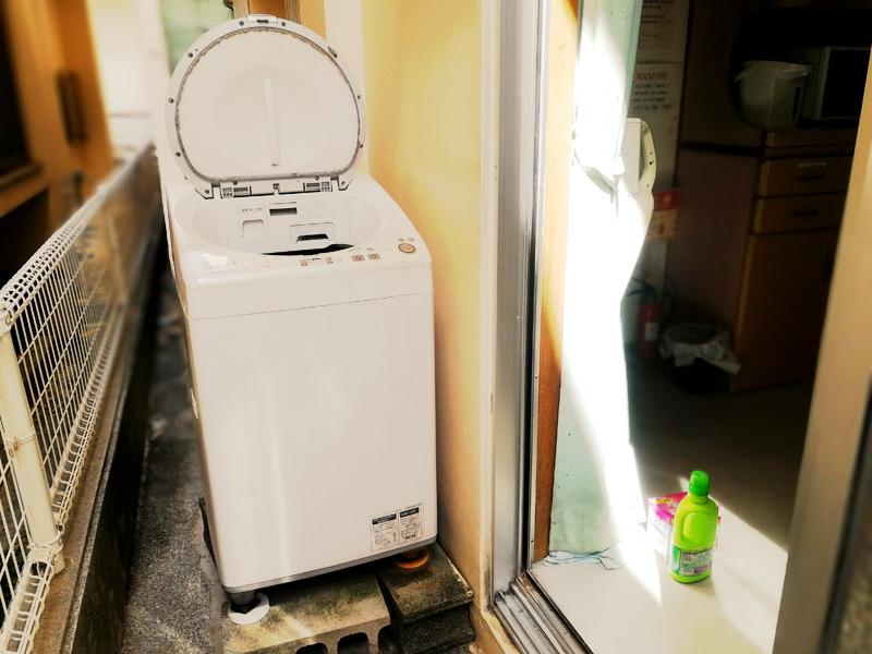たつや旅館の洗濯機