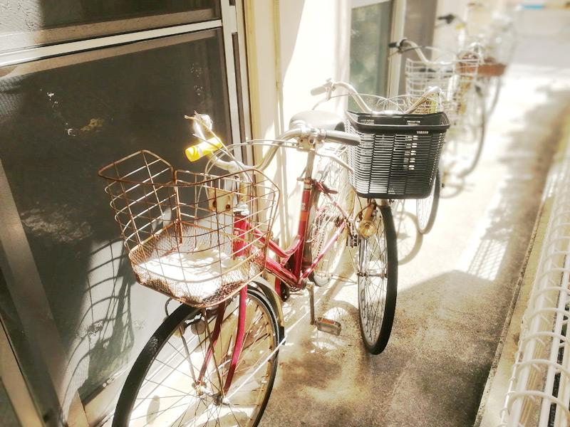 たつや旅館のレンタル自転車